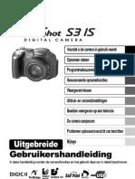 Canon IS S3 Powershot Manual Dutch