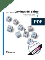 Los Caminos Del Saber Matematicas 7 PDF