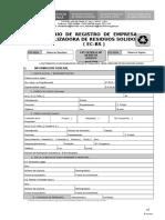 Formulario ComercializadoraRS