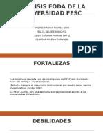 Presesentación Analisis Foda de La Universidad Fesc