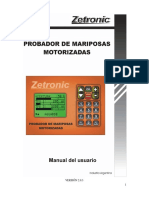 Manual Probador de Mariposas Motorizadas 12-2012