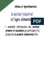 2- Le Secteur Agro Alimentaire 160111