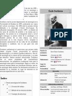 Émile Durkheim -FUNCIONALISMO