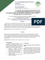 Automatizacion y Control de Un Proceso de Destilacion de Alcohol Crudo