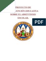 Proyecto de Intervención Educativa Sobre El Absentismo Escolar