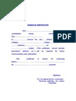 0065 0074 - Domicile Certificate Ro