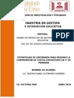 ESTRATEGIAS DE ENSEÑANZA PARA MEJORAR LA COMPRENSIÓN DE TEXTOS EXPOSITIVOS EN 3° DE PRIMARIA