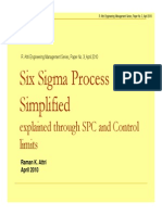 Six Sigma explained through SPC and Control Limits