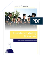 Dissertation Writing Guidelines