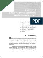 CAP. 4 Resposta Livre de Sistemas Mecânicos Com 1 GDL