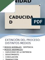 Unidad x - Procesal Civil
