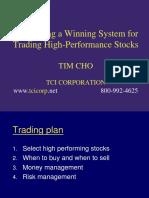 Tim Cho - Winning System for Trading High-Performance Stocks