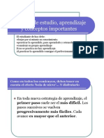 Técnicas de estudio, aprendizaje y conceptos importantes