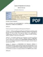 Plan Nacional de sostenimiento y estimulos PYME