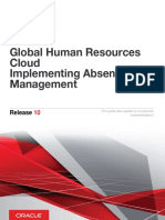 Oracle Global Human Resources Cloud Implementing Absence Management Release 10