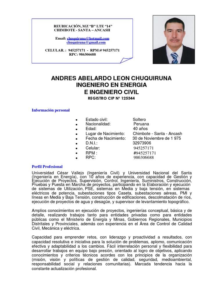 Excelente Ejemplos De Curriculum De Inspector De Calidad
