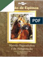 Criacao de Equinos Manejo Reprodutivo e Da Alimentacao