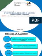 Estandares y Diseño de Algoritmo