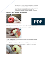 Generalmente Se Corta Las Manzanas en Trozos y Sin El Corazón Antes de Congelarlas
