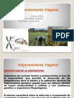 Mejoramiento Vegetal Unidad I