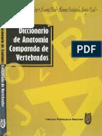 Alvares Del Villar Et Al Diccionario de Anatomia Comparada de Vertebrados