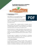 Estructura Informe Análisis de La Empresa Agro Industrial Paramonga s