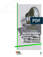 Mantenimiento de Instalaciones Fotovoltaica
