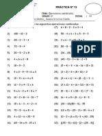 T 13 OPERACIONES COMBINADAS + - X