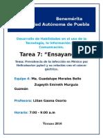 Prevalencia de la infección en México por Helicobacter pylori y su relación con el cáncer gástrico.