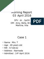 Morning Report 14 April 2016 (Anemia Berat)