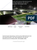 Inventario Nacional de Plantas Municipales de Potabilización y de Tratamiento de Aguas Residuales en operación