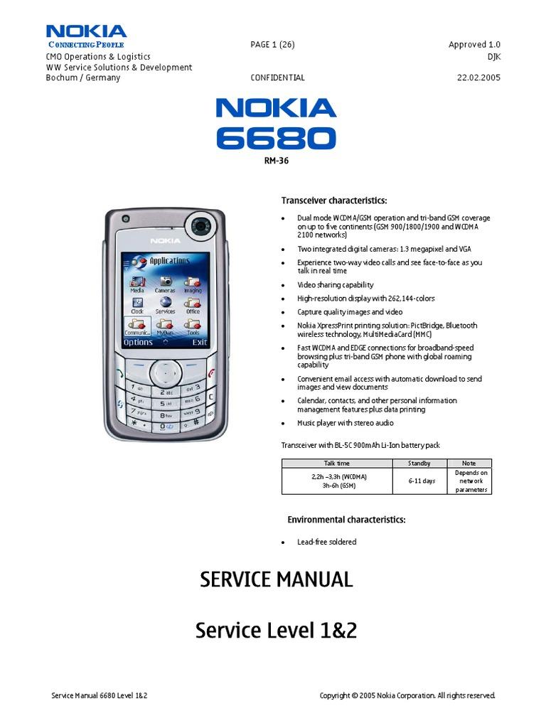 nokia 6680 rm 36 service manual level 1 2 electrostatic rh scribd com nokia 6680 user manual Old Nokia Phones
