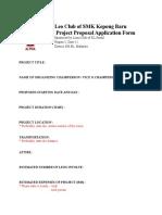 Sample of Proposal