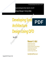Developing Systems Architecture Using QFD