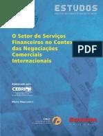 O Setor de serviços financeiros no contexto das negociações comerciais Internacionais.