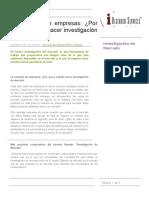 Articulo de Investigacion de Mercados