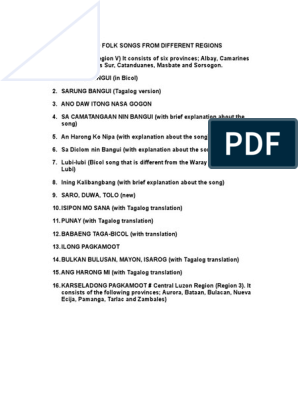 Katutubong Awit (Native Song) | Tagalog Language | Notation