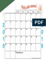 Calendario Enero 2015 Feliz Ano Nuevo l