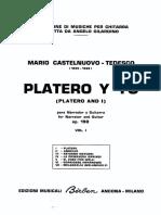 Mario Castelnuovo Tedesco - Platero y Yo Vol. 1