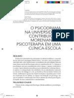 O Psicodrama Na Universidade - Contribuicoes Morenianas