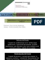 Modernizacion de Gestion Publica