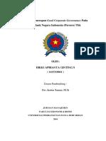 Analisa Penerapan Good Corporate Governance Pada PT BANK BNI