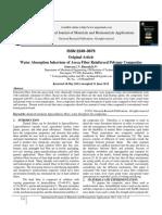 Water Absorption behaviour of Areca Fiber Reinforced Polymer Composites.pdf