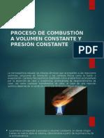 Procesos de Combustión a Volumen y Presión Constante