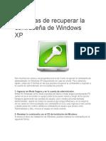 5 Formas de Recuperar La Contraseña de Windows XP