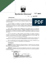 DIRECTIVA SOBRE  ORIENTACIONES PARA EL DESARROLLO DEL PROGRAMA DE PROMOCIÓN Y DEFENSA DEL PATRIMONIO CULTURAL 2010