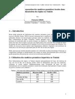 2010-Lebas-Tunisie-Possibilités Incorporation Matières Premières Locales