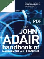 Handbook of Management and Leadership