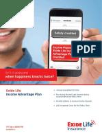 Exide Life Income Advantage Plan Brochure