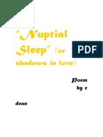 Nuptial Sleep-erotic poetry